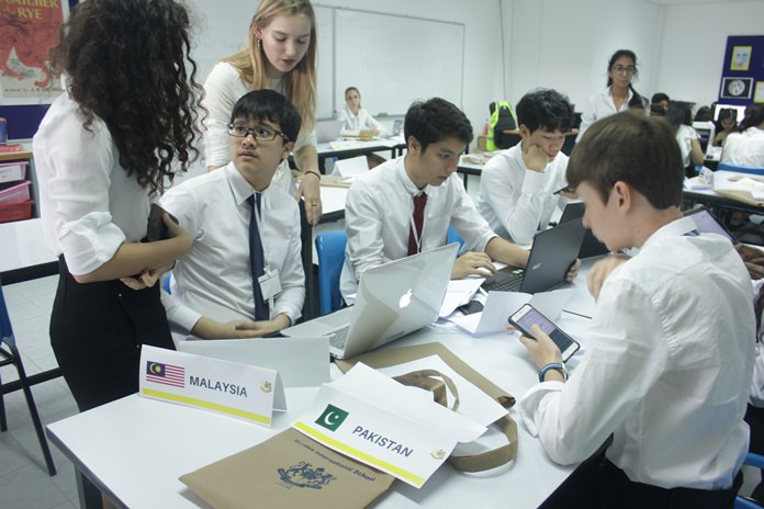 'What do you think?' There were plenty of complex discussions taking place at the MUN Conference.