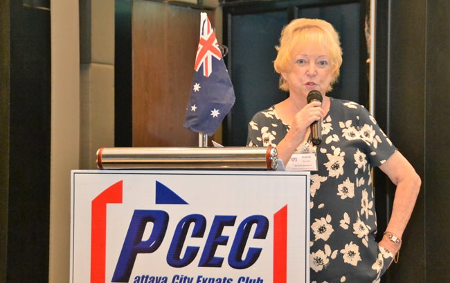 Anne (Top Sheila) Smith helps her PCEC audience learn to be an Aussie for a day by providing them with some of Australia's fascinating history.