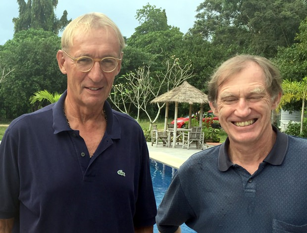 Jonathan Pratt (right) with Willem Lasonder.