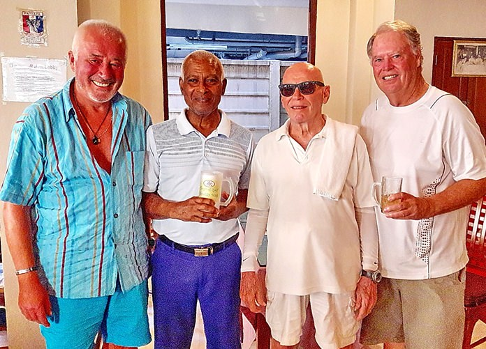 From left, Joachim Sparwith, Landis Brooks, Bill Jones and Mike Johns.