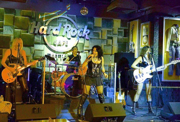Syteria perform on stage at Hard Rock Pattaya, Friday, Feb. 9 (Photo/Dutch Michaels)