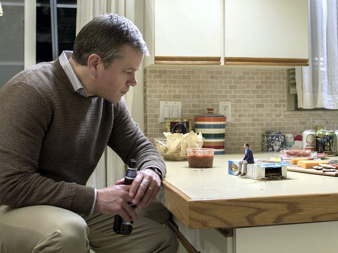 """In this image Matt Damon appears in a scene from """"Downsizing."""" (Paramount Pictures via AP)"""