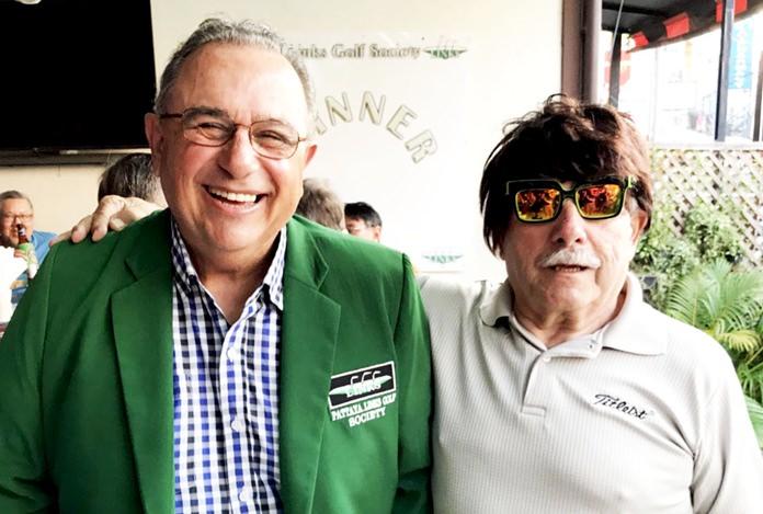 John Chelo (left) with wig wearer Rick Humen.