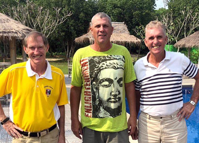 From left, Jonathan Pratt, Bob Edwards & Neil Harvey.