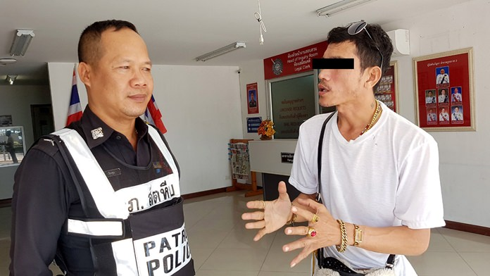 Pornchai Suwannakhet was arrested for allegedly trying to pawn fake gold. A check on the various rings, bracelets and necklaces he was wearing found they, too, were all fake.