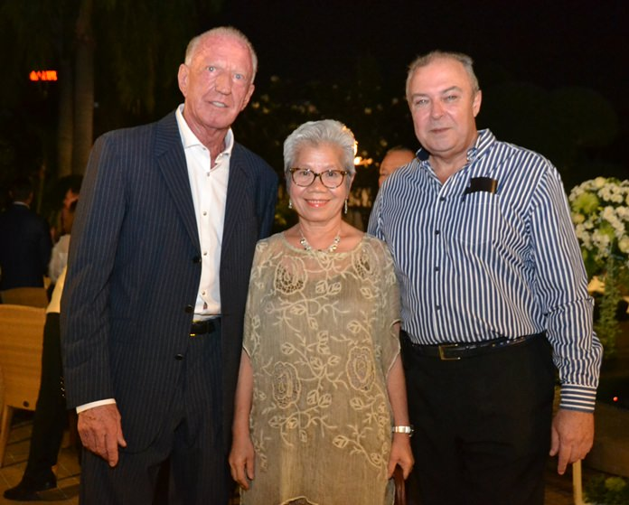 Gerrit Niehaus (left) with two of his closest personal assistants, chief accountant Vilaiwan Chaichumporn and general manager Rene Pisters.