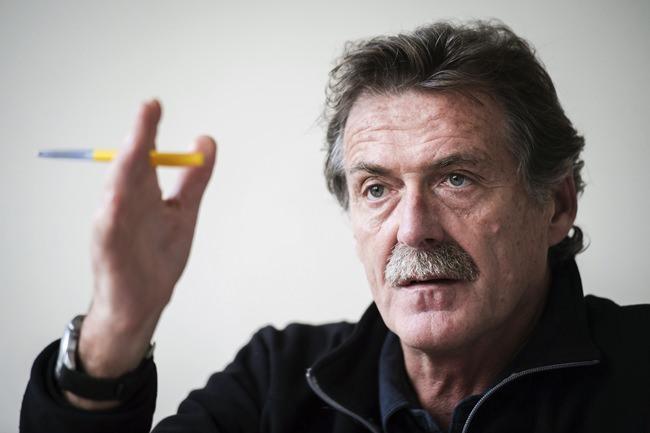 In this Oct. 23, 2013 file photo, Belgium's leading euthanasia doctor, oncologist Wim Distelmans, speaks in Wemmel, Belgium. (AP Photo/Geert Vanden Wijngaert, File)