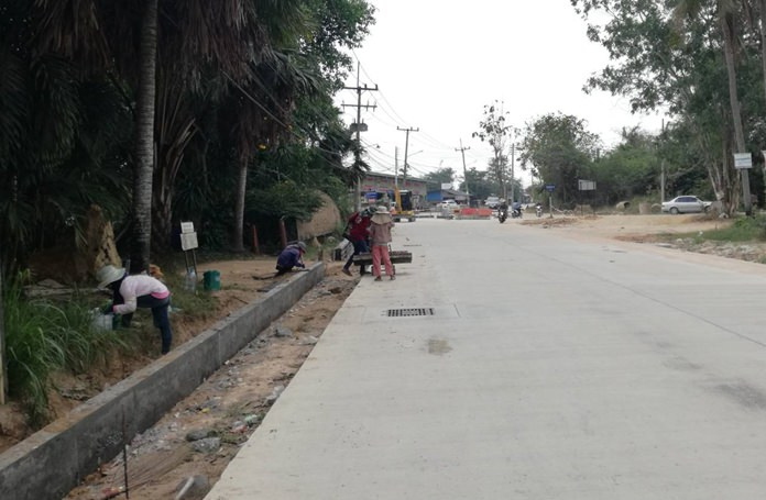 The Nongmaikaen-Baan Tanman roadwork has entered phase 2 and is expected to complete before the month of July.