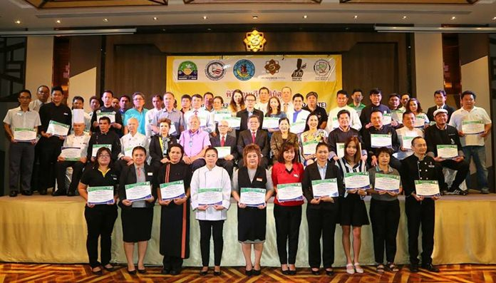 """More than 80 Pattaya hotels and restaurants were commended for good hygiene as part of the city's """"Clean Food, Good Taste"""" program."""