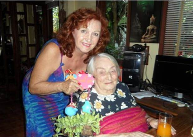 Herta Rommel, shown here at her 106th birthday with Elfi Seitz.