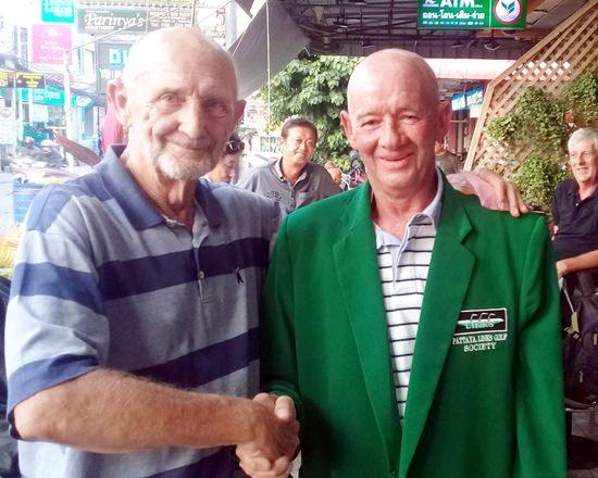 Rob Knight (right) with Len Jones.