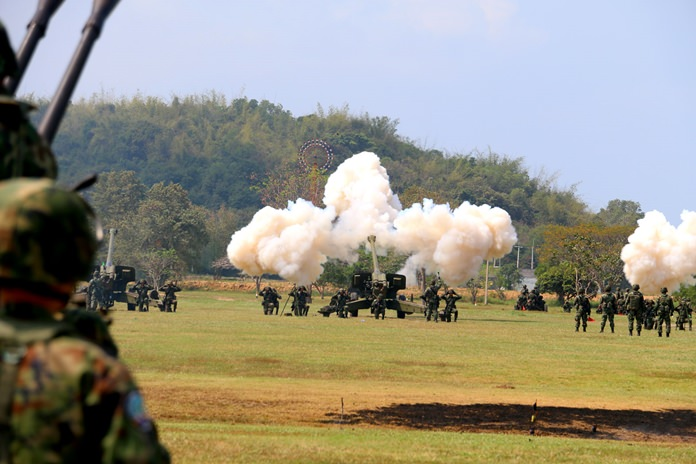 The Royal Thai Navy will spend most of the next two months playing war games, much of the time with live ammunition.