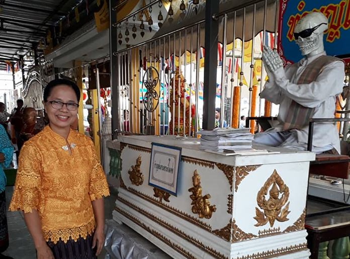 One of the highest forms of merit making for a devout Buddhist is to donate money towards buying a coffin for the deceased without relatives.