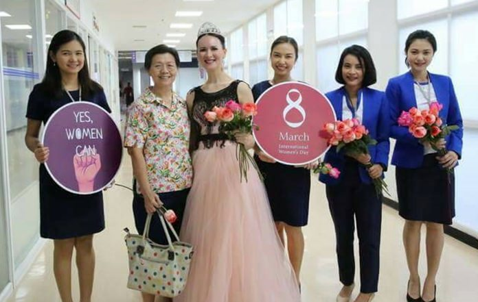 Bangkok Hospital Pattaya was one of only a handful of venues in Pattaya to celebrate International Women's Day.