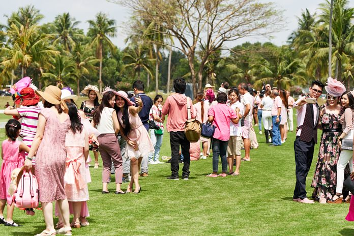 Spectators supported the event by dressing in multiple shades of pink.