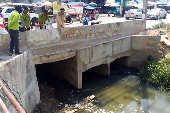 Tests have confirmed the smelly, black water flowing in a canal by the Raiwanasin Market is indeed contaminated.