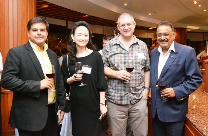 (L to R) Tony Malhotra, Eunju Kwak, Director of BDST Bromsgrove International School, Dr. Dan Moore, Head and CEO of Bromsgrove International School, and Peter Malhotra, MD of Pattaya Mail.