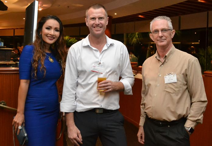 (L to R) Tina Griffis, Harrington Industries Thailand, Matta Harkness, General Manager of SMR, and Mike Griffis of Harrington Industries Thailand.