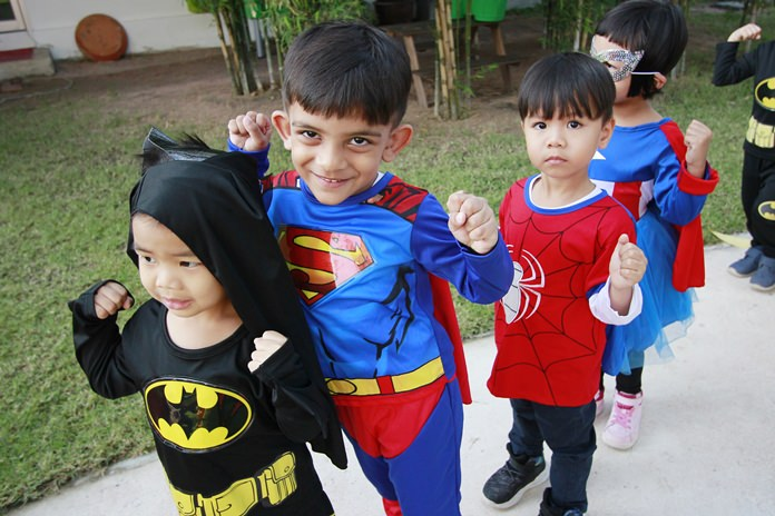 Batman, Superman and Spiderman all took part in the book day.