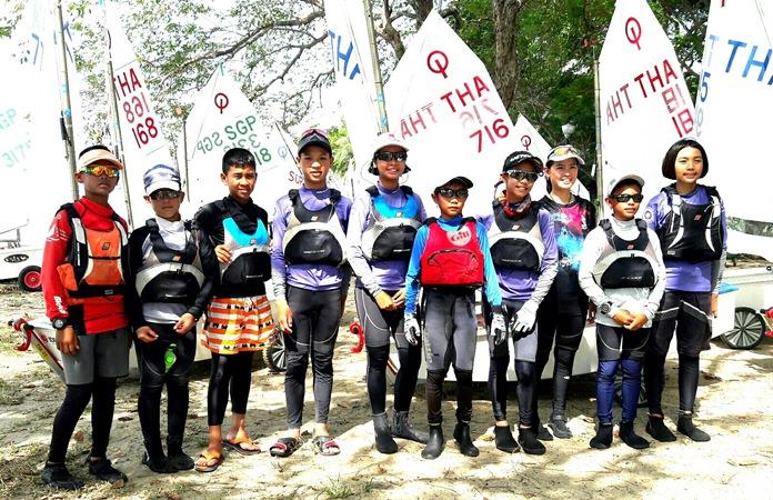 Thailand's Optimist team in Singapore.