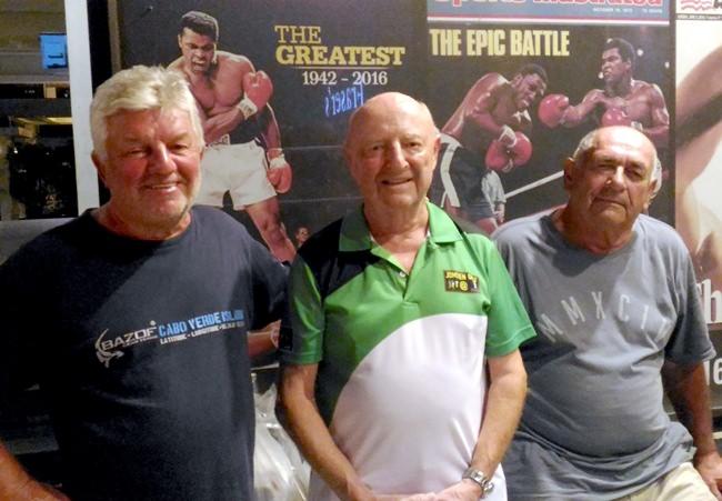 (Left to right) Andres Van De Laan , David Phillips and Leo Adam.