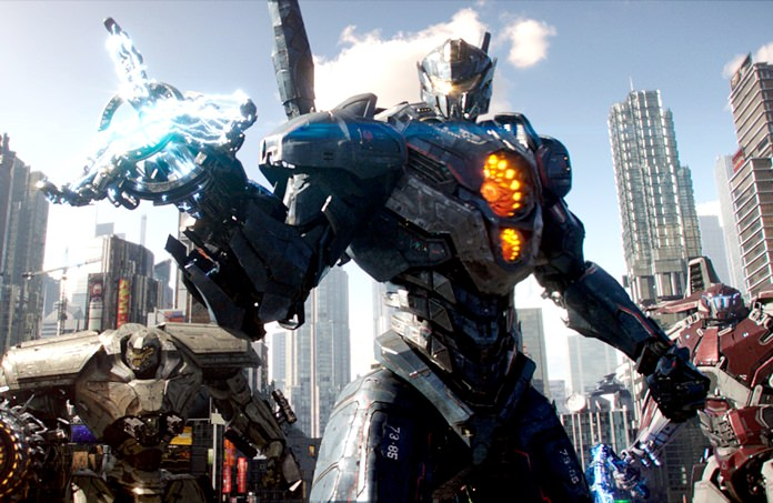 "This image shows a scene from ""Pacific Rim Uprising."" (Legendary Pictures/Universal Pictures via AP)"