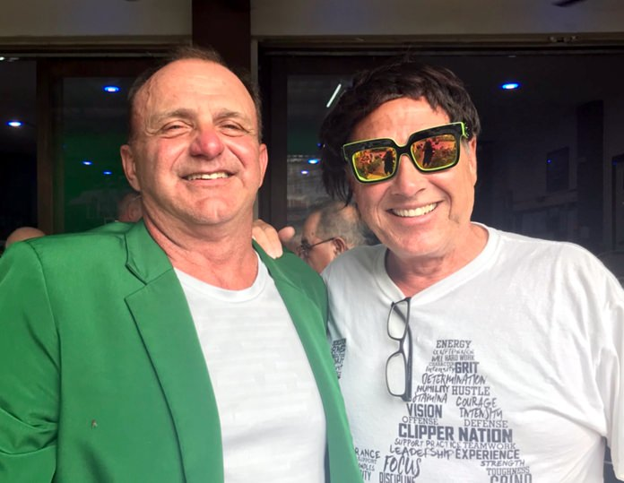 Bart Bingham (left) with Bill Copeland.
