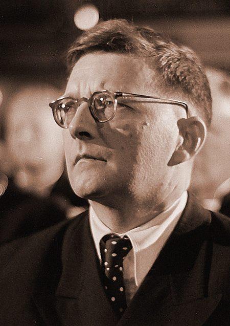 Shostakovich in 1950. (Deutsche Fotothek)