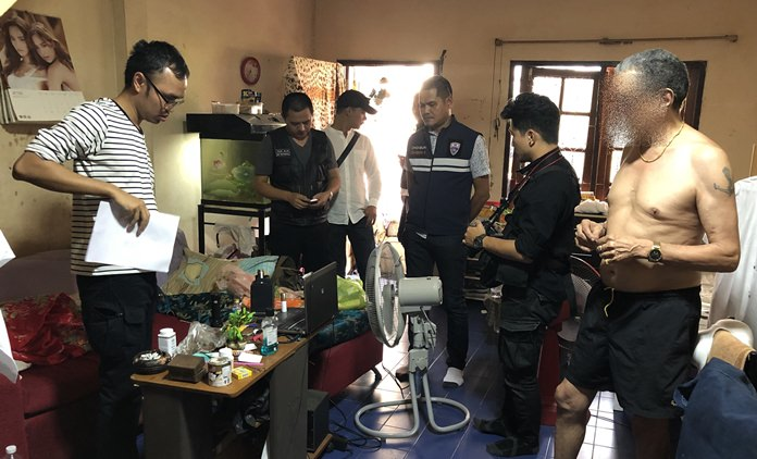 French national Rachid Abdelkader was arrested in Pattaya for possession of child pornography with an attempt to profit from it