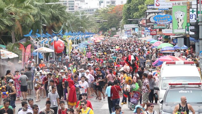 Beach Road will be closed from 6 a.m. to 7 p.m. April 19 for the finale of Pattaya's Songkran celebration.