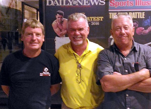 Frank Grainger, Dennis Scougall and John Walsh.