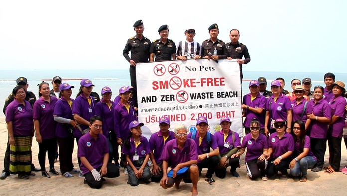 Pattaya officials are drafting beach vendors to enforce the country's new smoking ban and keep Jomtien clean.