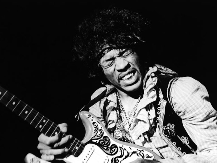 Jimi Hendrix performs at the Monterey Pop Festival in 1967. (Bruce Fleming/AP Photo)