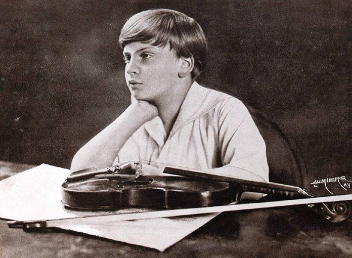 Yehudi Menuhin aged 12.