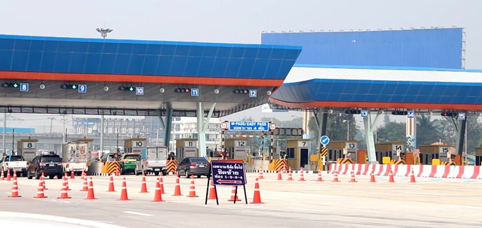 The end of Songkran marked the start of full operation for five new toll booths along Highway 7.
