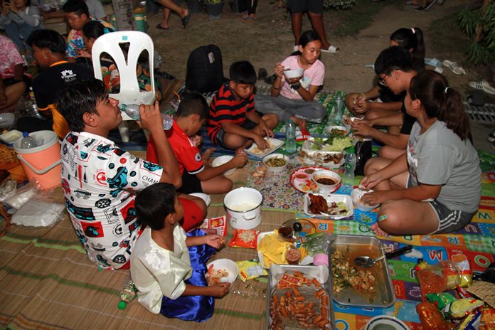 After the feast, residents are entitled to enjoy the meal together but nobody is allowed to take the food home.