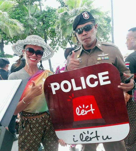 "Pattaya tourists and residents needing police help can now use the ""Police iLert You"" smartphone app to call the cops."