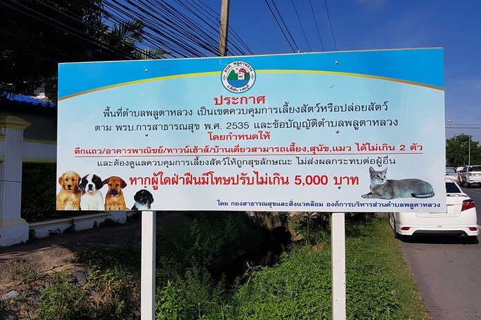 Plutaluang has started enforcing a 26-year-old law barring sub-district residents from owning more than two unregistered pets.