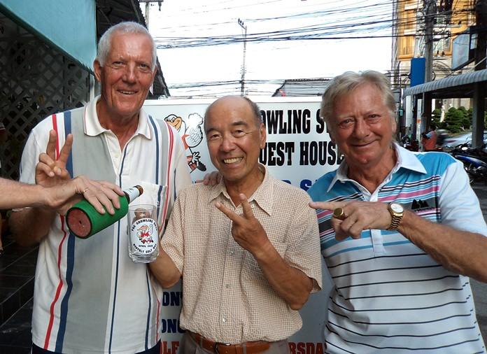 Gordon Clegg, Mashi Kaneta & Keith Buchanan.