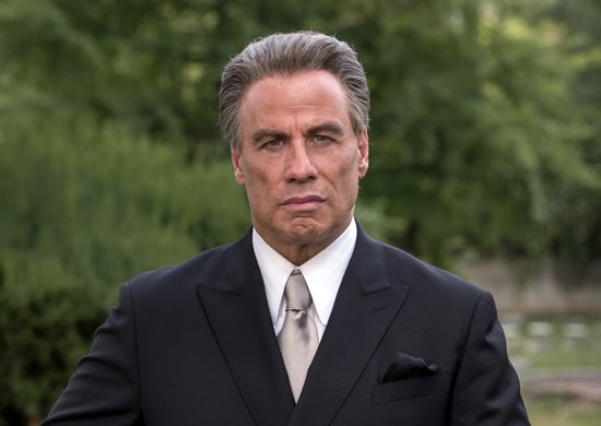 "This image shows John Travolta as John Gotti from the mobster biopic ""Gotti."" (Vertical Entertainment via AP)"