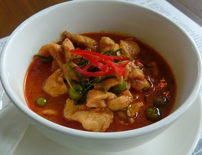 A spicy Panang Curry.