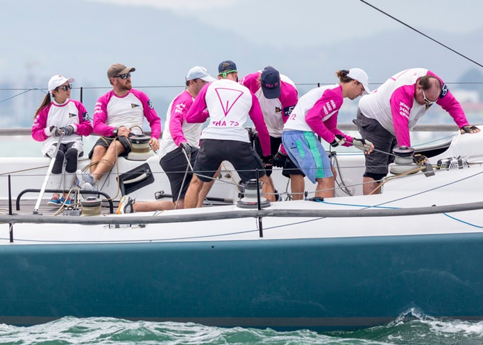 Noppakao Poonpat (far left) helmed THA72 to victory in IRC1 Class.