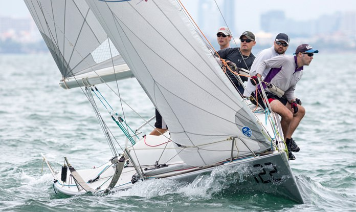 Racing on the edge at the 2018 TOG Regatta.