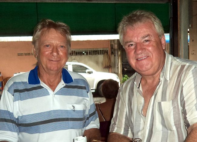 Roger Ellis (right) with Keith Buchanan.