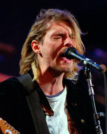 Kurt Cobain in 1993. (AP Photo/Robert Sorbo)