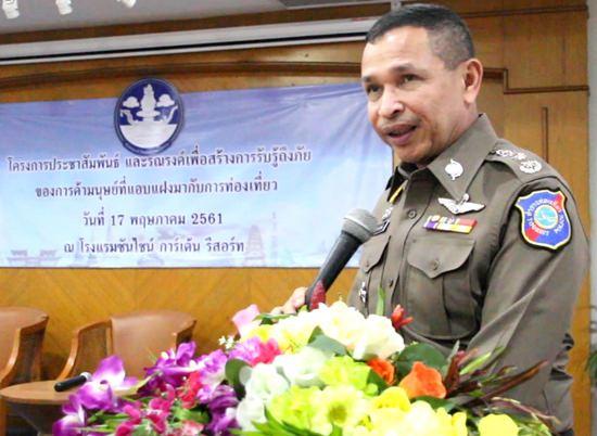 Pol. Lt. Gen. Sakorn Thongmunee warned that human trafficking was flourishing in tourists areas.