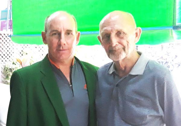 Tommy Marshall (left) with Len Jones.