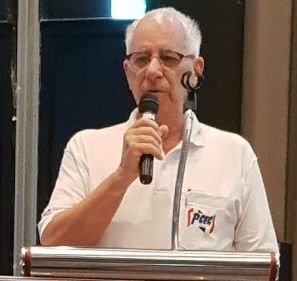 MC Richard Silverberg opened the PCEC Sunday meeting by thanking Bangkok Hospital Pattaya for providing nurses to give free blood sugar and blood pressure checks to members and guests and then calling on new visitors to introduce themselves by giving their name and where they are originally from.