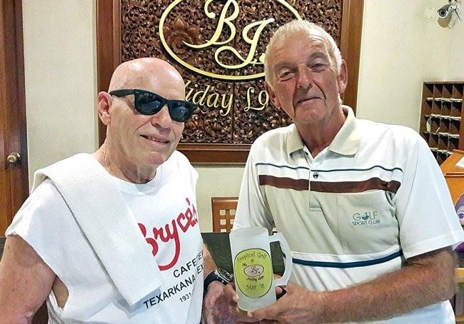 Mick Coghlan (right) with Bill Jones.