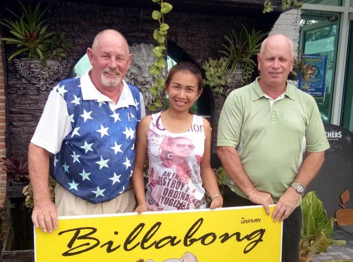 (From left) Capt Bob, Sasicha and Paul Greenaway.